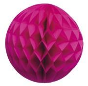 Boland Honeycomb Decoratie bol Knal roze 25 cm