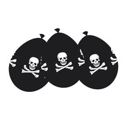 Boland Ballonnen Pirate Party 6 stuks 25 cm
