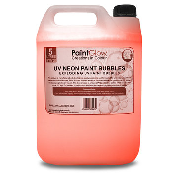 PaintGlow Bellenblaas vloeistof Fluor Oranje 5 Liter