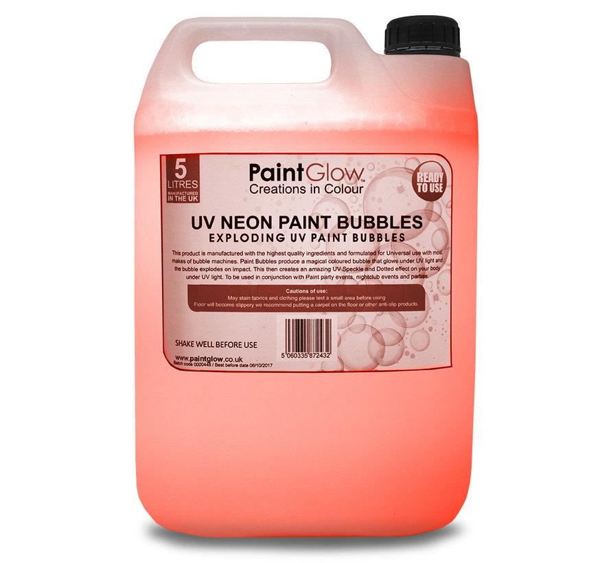 Bellenblaas vloeistof Fluor Oranje 5 Liter