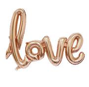 Joni's Winkel Folieballon LOVE Champagne 108x64 cm