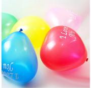 Joni's Winkel Ballonnen i love you rood paars roze hartvormig 8 stuks