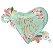 Anagram Super Shape Folieballon Miss to Mrs 81 x 66 cm