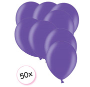 Anagram Ballonnen paars metallic 50 stuks 27 cm