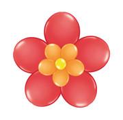 Folat Ballonnen Bloem Rood/Oranje/Geel