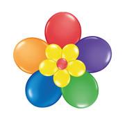 Folat Ballonnen Bloem Multi/Geel/Rood