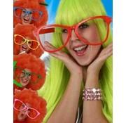 PartyXplosion Maxi bril zonder glas assorti