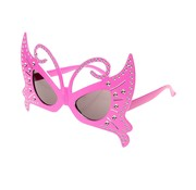 PartyXplosion Vlinder bril roze