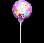 Folat Beschrijfbare folieballon Let's Party paars 23 x 23 cm