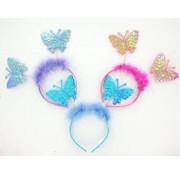 Joni's Winkel Diadeem met parelmoer roze vlinders
