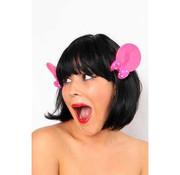 PartyXplosion Haarclip Met roze Minnie oortjes