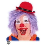 Clowns pruik Lila