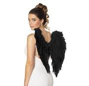PartyXplosion Engele vleugels Zwart 60 x 75 cm