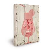 """Miko Houten tekstbord """"Always love you"""""""