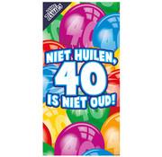 """Miko Tissueboxen """"Niet huilen 40 is niet oud"""""""