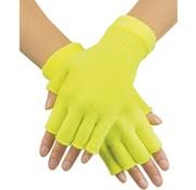 Boland Vingerloze  handschoen Neon geel
