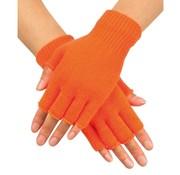 Boland Vingerloze  handschoen Neon oranje