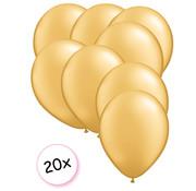 Folat Ballonnen Goud 20 stuks 13 cm