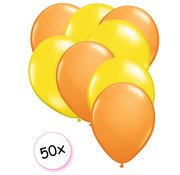 Joni's Winkel Ballonnen Oranje & Geel 50 stuks 27 cm