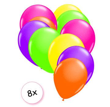 Joni's Glow-Shop Ballonnen Neon 8 stuks 25 cm
