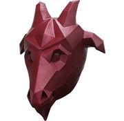 Ghoulish productions Masker Low Poly Goat voor volwassenen