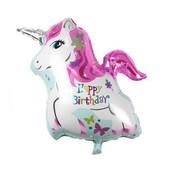 Joni's Winkel Folieballon Eenhoorn Happy Birthday 25 x 20 cm