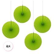 Joni's Winkel Waaiers Licht groen 4 stuks 30 cm