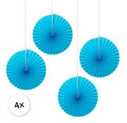Joni's Winkel Waaiers Licht blauw 4 stuks 30 cm