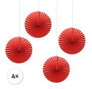 Joni's Winkel Waaiers Rood 4 stuks 30 cm