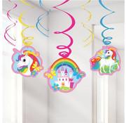 Amscan Swirls Unicorn 6 stuks