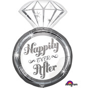 Anagram Super Shape Folieballon Happily Ever After 45 x 68 cm