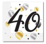 Procos Servetten 40 jaar 20 stuks 33 x 33 cm