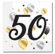 Procos Servetten 50 jaar 20 stuks 33 x 33 cm
