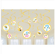 Amscan Swirls Babyshower What will it Bee? 12 stuks