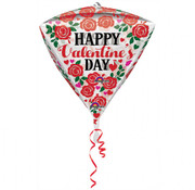 Anagram Diamondz Folieballon Happy Valentine's Day 38 x 43 cm