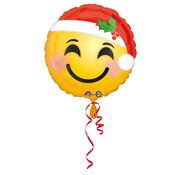 Anagram Standard Shape Folieballon Santa Hat Emoji 43 x 43 cm