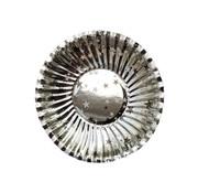 Joni's Winkel Oliebol bordjes zilver 8 stuks 10 cm