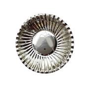 Joni's Winkel Oliebol bordjes Chapagne zilver 8 stuks 10 cm