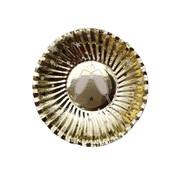 Joni's Winkel Oliebol bordjes Chapagne goud 8 stuks 10 cm