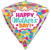 Anagram Diamondz Folieballon Happy Mother's Day 38 x 43 cm