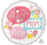 Anagram Standard Shape Folieballon Best Mom Ever Bubbles 43 x 43 cm