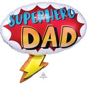 Anagram Super Shape Folieballon Superhero DAD 68 x 66 cm