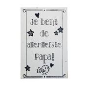 """Postkaart Hout """" Je bent de allerliefste Papa"""""""