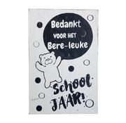 """Postkaart Hout """" Bere-leuke schooljaar """""""