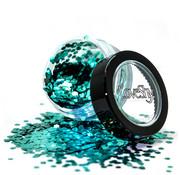"LoveShy LoveShy Bio Degradable Chunky Glitters ""Aqua Marine"" 3 gr"