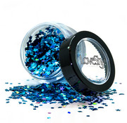 "PaintGlow LoveShy Holographic Moon & Stars Glitters ""Cosmic Blue"" 3g"