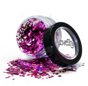 "PaintGlow LoveShy Holographic Moon & Stars Glitters ""Princess Pink"" 3g"