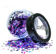 "PaintGlow LoveShy Holographic Moon & Stars Glitters ""Ultra Violet"" 3g"