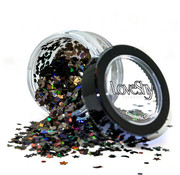 "PaintGlow LoveShy Holographic Moon & Stars Glitters ""Black Star"" 3g"