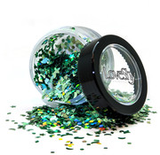 "PaintGlow LoveShy Holographic Moon & Stars Glitters ""Green Envy"" 3g"